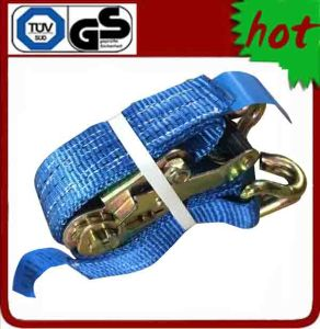 3t X 6m 35mm Ratche Tie Down with Double J Hooks
