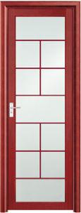 Asia Popular Red Aluminum Bathroom Door (EA-9674) pictures & photos