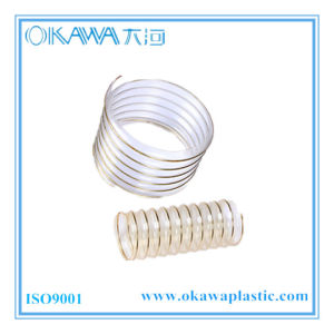 Clear Spring PU Hose with Steel Wire Reinforcement