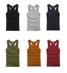 2018 High Quality Soft 100% Cotton Men Vest Y Shape pictures & photos
