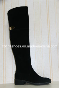 Updated Trendy Comfort Lady Leather Winter Boots pictures & photos