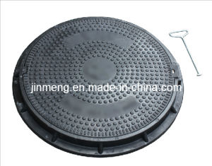 Anti-Theft D400 SMC Manhole Cover EN124 with Lock pictures & photos