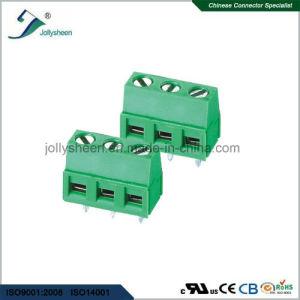 PCB Screw Terminal Blocks Pitch 5.0mm 180deg DIP Type pictures & photos