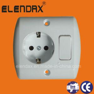EU Style Flush Mounted Schuko Switch Socket (F7610) pictures & photos