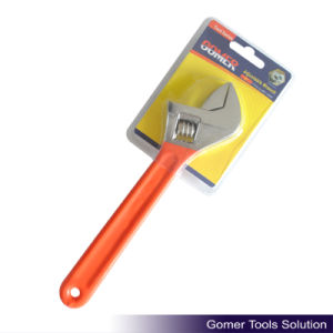 Adjustable Wrench with Dipped Handle (T01323)
