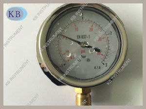 "4"" Bottom Stainless Steel Vacuum Gauges Manometer pictures & photos"