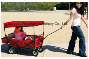 Red Popular Kid Sack Folding Transportation Wagon Cart Fw3016 pictures & photos