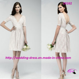 Sexy Plunging Neckline Bridesmaids Dress for Wedding pictures & photos