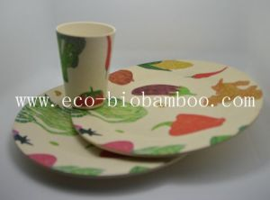 Bamboo Fiber Tableware Combination Series with Printed (BC-CS1009) pictures & photos