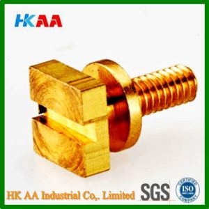CNC Swiss Machining Brass Slot Threaded Adjustment Screw pictures & photos