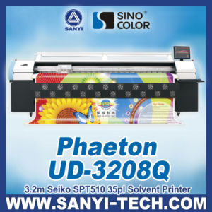 Solvent Printing Plotter Phaeton Ud-3208q, 3.2m with Spt510/35pl Heads, for Outdoor Printing pictures & photos