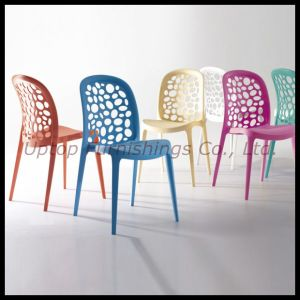 Stacking Modern Colorful Hollow out Back Plastic Dining Chair (SP-UC316) pictures & photos