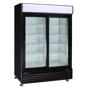 American Style Double Glass Door Vertical Dsplay Showcase Supermarket Refrigerator Beverage Cooler pictures & photos