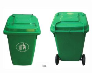 Eco-Friendly Recycle Plastic Trash Can/ Garbage Bin (FS-80100) pictures & photos