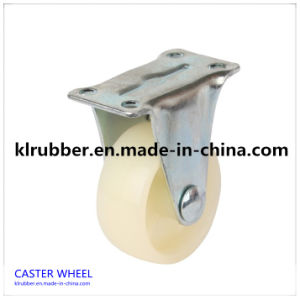 4 Inch Low Profile Zinc Plated Nylon Caster Wheel pictures & photos