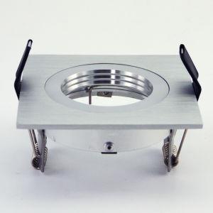 Lathe Aluminum GU10 MR16 Square Recessed Fixed LED Ceiling Light (LT2111A) pictures & photos