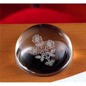 Dome Crystal Engraved Folwer as Paper Weights Gift (CP4010) pictures & photos