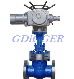 ANSI Class 300 Flange End Rising Stem Electric Gate Valve
