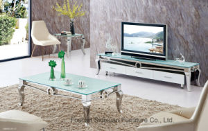 Modern European Living Room Glass Coffee Table and TV Cabinet pictures & photos