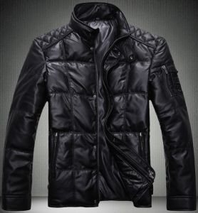 Men Leather PU Winter Padding Clothes Jacket pictures & photos
