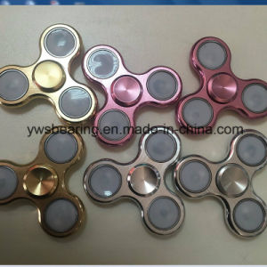 New Design High Speed Alloy Spinner LED Hand Fidget Spinner with 3 Flashing Modes pictures & photos