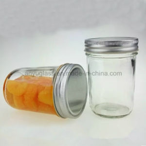 Different Size Round Glass Jar with Aluminum Lid pictures & photos