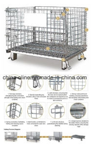 Roll Metal Steel Wire Basket/Storgae Cage pictures & photos