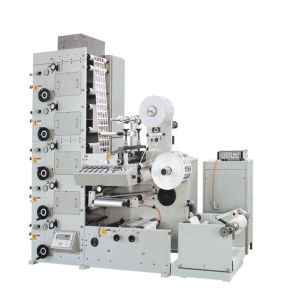 Label Printing Machine with One Die Cutting Station pictures & photos