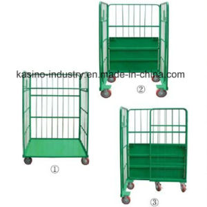 Foldable Storage Logistic Wire Mesh Roll Container, Roll Pallet, Trolley (High quality) pictures & photos