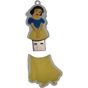 PVC Pen Drive Flash Memory Snow White USB Flash Drive pictures & photos
