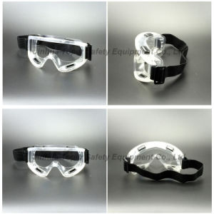 PVC Transparent Frame Safety Goggles (SG142) pictures & photos