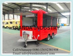Cart-Shaped Mobile Coffee Cart Food Application Commercial Hotdog Kiosk pictures & photos