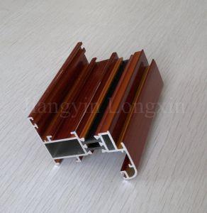 Wooden Print Aluminium Profiles for Casement Windows pictures & photos