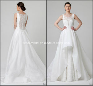 Lace Ball Gowns Crew Organza New Tiered Wedding Dresses Y1015 pictures & photos