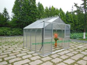 Growell 10mm Polycarbonate Greenhouse with Self-Designed Finial Decorations (GA10 series) pictures & photos