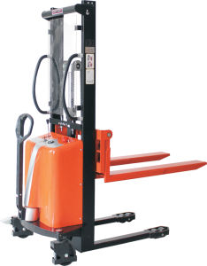 Adjustable Forks Semi Power Stacker