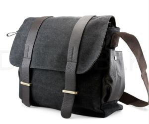 Men′s Canvas Leather Satchel, Shoulder Bag, Messenger Bag (BS16021) pictures & photos