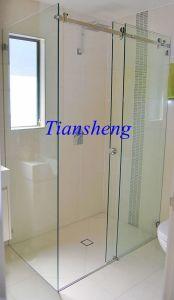 Tempered Glass Sliding Door, Interior Frosted Glass Bathroom Door pictures & photos
