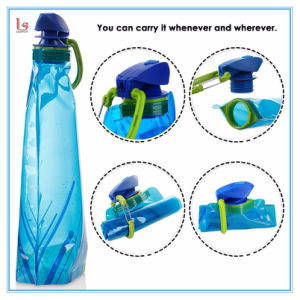 2017 Wholsale Outdoor BPA Free Portable Collapsible 700ml Foldable Sports Water Bottle pictures & photos