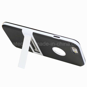 Hybrid TPU and PC Case for iPhone 6 Plus with Holder pictures & photos