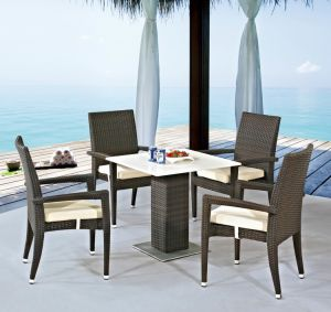 Outdoor Furniture Rattan/Wick Chair and Table Ln1012 pictures & photos