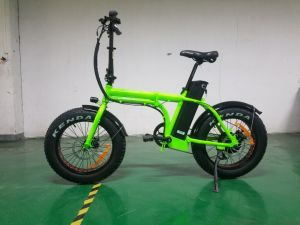 Green with Mudgards 20inch Fat Tire Electric Bicycle pictures & photos
