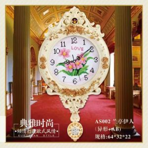 European Creative Hot Sale Luxury Diamond Clock Wall Clock pictures & photos