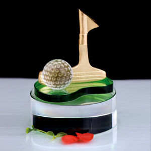 Customized Golf Trophy with Zinc Alloy or Terne Alloy Material pictures & photos