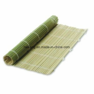 Green Sushi Mat in Bamboo Material pictures & photos