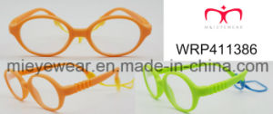 New Fashion Rubber Finish Rubber Temple Kids Eyewear Eyewearframe Optical Frame (WRP411386) pictures & photos