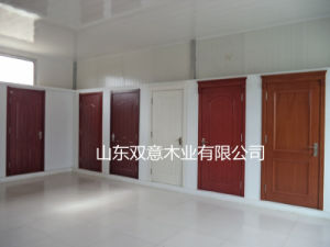 PVC Coated Interior Room Door with Accessories pictures & photos