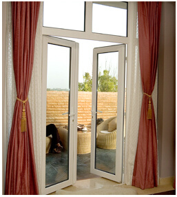 Cheap White UPVC Double Casement Window with Lock Handle Price pictures & photos