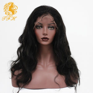 8A Top Grade Free Part Brazilian Loose Wavy Lace Front Wig Glueless Full Lace Human Hair Wigs with Baby Hair Bleached Knots pictures & photos