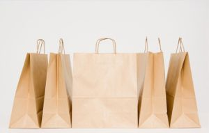Kraft Paper Shopping Bags for Gift Promotional (FLP-8963) pictures & photos